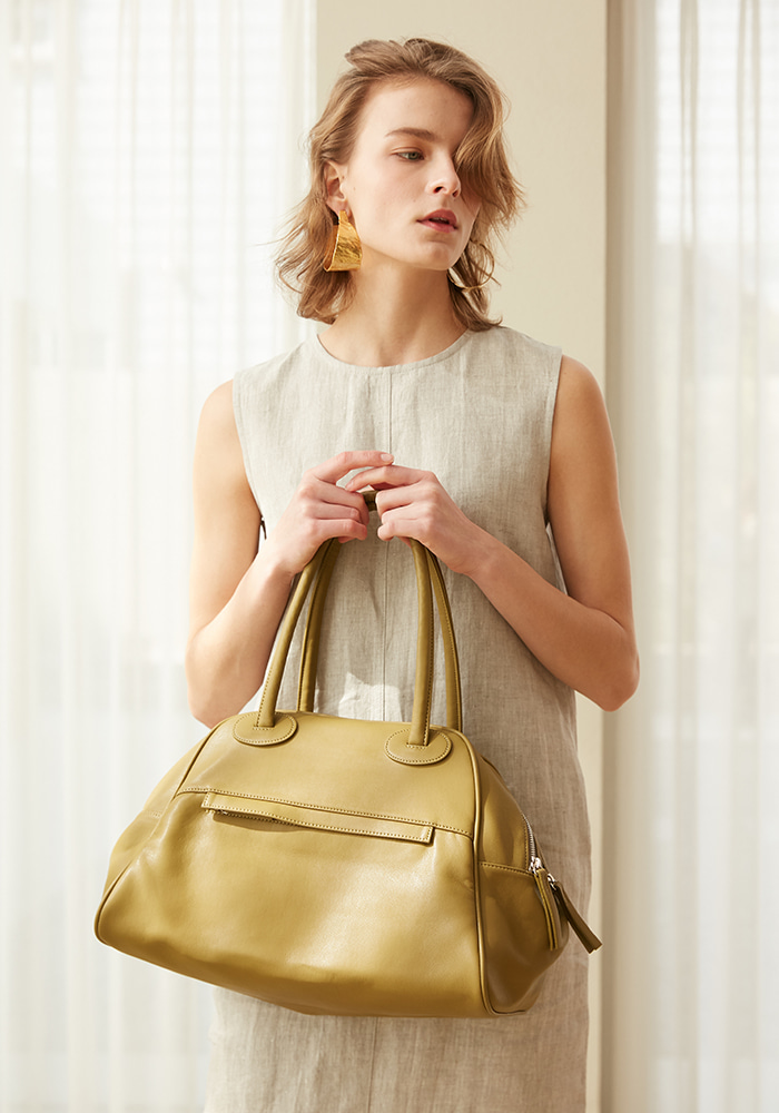 [New Edition] TWO ZIPPER BAG(GREEN OLIVE)