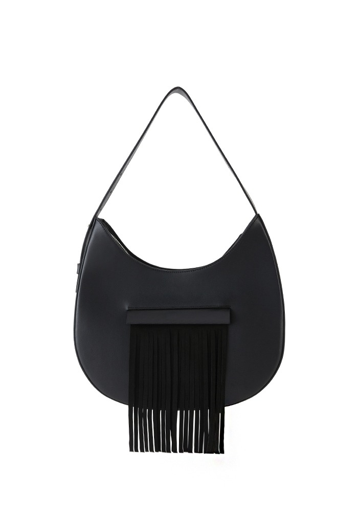 [LIMITED] DROP FRINGE BAG (BLACK PEPPER)