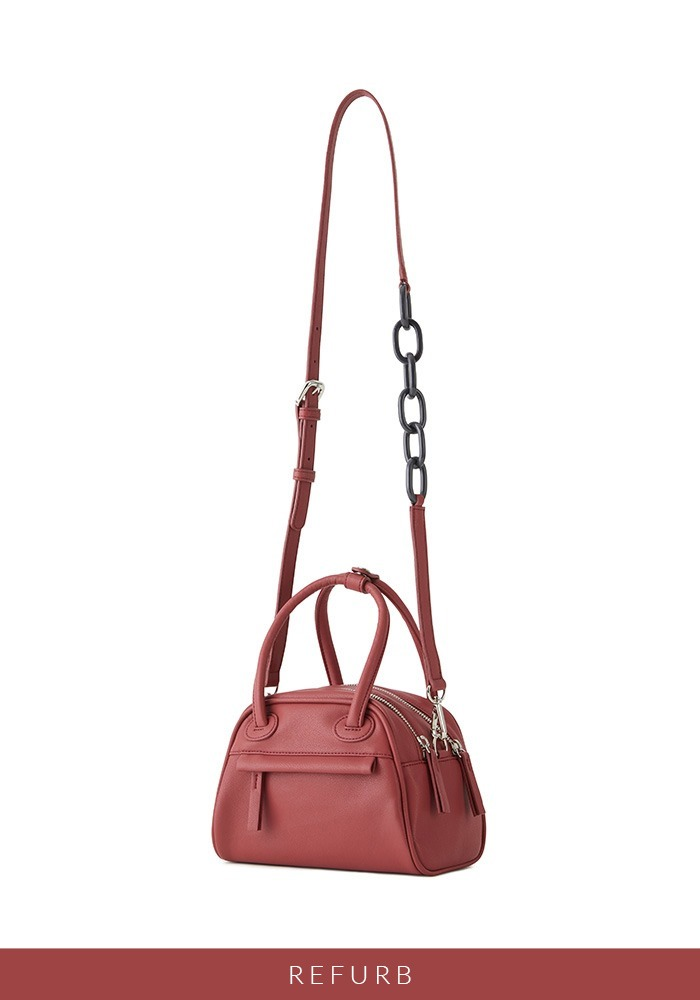 [리퍼브상품] TWO ZIPPER BAG MINI (RASPBERRY CREAM)