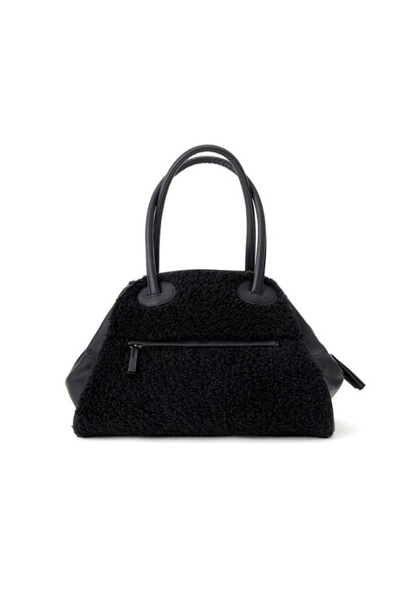 TWO ZIPPER BAG  FUR ORIGINAL (BLACK PEPPER)